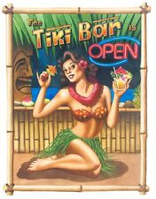 """Tiki Bar is Open"", 16x20  unmatted & rolled Print by Hawaii artist Garry Palm"