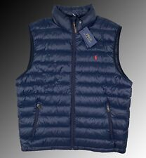 POLO Ralph Lauren Navy Blue Quilted Down Puffer Vest Men's Size XLarge