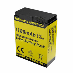 Nitecore Battery NLGP3 For GoPro Hero 3 3+ 1160mAh Suitble for Nitecore Lamps