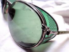 VTG STEAMPUNK SUNGLASSES GAULTIER AO GREEN LENSES perforated lucite shields
