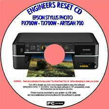EPSON PX700W TX700W PRINTER WASTE INK ENGINEERS COUNTER RESET DISC WIN XP/7/10