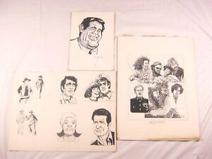 Vintage Original Kurt Anderson 3 Pen & Ink Drawings from the 1970's