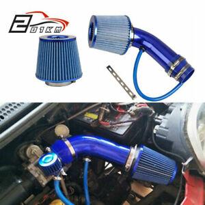 "Aluminum 3.0"" Universal Car Cold Air Intake Filter Induction Hose Pipe Kit AU"