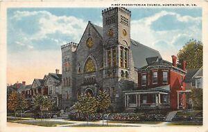 H88/ Huntington West Virginia Postcard c1920s First Presbyterian Church221