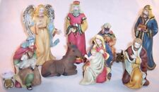Pre-Owned 8 Piece Porcelain Christmas Nativity Set (Includes 4 Candle Holders)