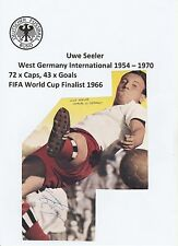 UWE SEELER WEST GERMANY INT 1954-1970 ORIGINAL HAND SIGNED MAGAZINE CUTTING