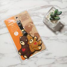 NEW Japan Daiso Bear Travel Luggage Tag