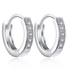 Earrings Hoop Huggie Stainless Steel Men Women S 2pcs Ear Stud Hinged Dangle