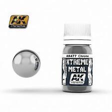 AK Interactive 30ml Extreme Metal Paints Chrome # 477