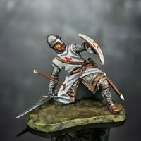 Toy Soldiers Figures Knight 54mm Painted Metal 1/32 Military Tin Sculpture
