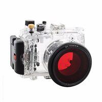 Meikon 40m/130ft Underwater Camera Housing for SONY DSC-RX100 II w/Red Filter