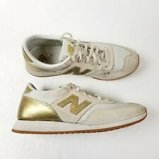 New Balance 620 Athletic Running Shoes Womens 8 Cream Gold Low Top CW620JD2