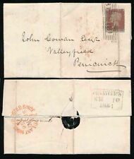 Scotland 1856 Edinburgh Roller + Posted Since 7.20 in Red + Pennycuick Boxed