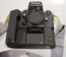 Nikon F3 HP 35mm #1669217 SLR Camera body w/ Nikon Winder MD-4 #176340