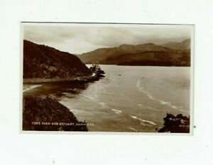 POSTCARD REAL PHOTO COES FAEN AND ESTUARY, BARMOUTH