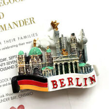 HOT Tourist Souvenir Favorite 3D Resin Fridge Magnet Relief- Berlin,Germany Flag