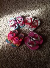Toddler Lot Of 4 Flip Flop Sets, Size 5/6 6 Minnie, Old Navy Hello Kitty Etc