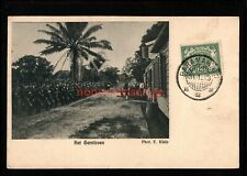 SURINAME PARAMARIBO HET GARNIZOEN MILITARY REVIEW Vignette POSTCARD 1913 - Sur03