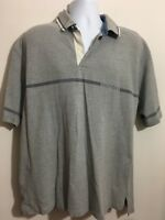 Tommy Hilfiger Grey Short Sleeve Polo Golf Shirt Men's XL