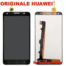 GLS: DISPLAY+TOUCH SCREEN ORIGINALE per HUAWEI ASCEND G750 NERO VETRO HONOR 3X
