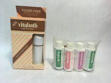 Vintage VITABATH Cool Coconut Shower Gelee and Vitabath Travel Set SPRING GREEN
