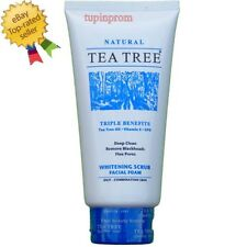 Natural Whitening SCRUB Foam Face Wash Cleanser Oily Skin Care Tea Tree 140ml