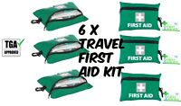 6x 92pcs Travel First Aid Kit Medical Handy Emergency Survival Family Hiking Car