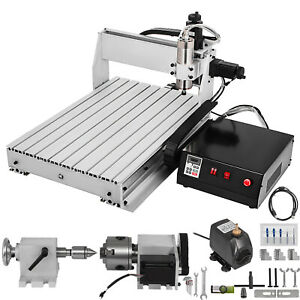 VEVOR 4Axis CNC Router 6040 Machine Tool 6063 Industrial Aluminum Durable Cutter