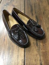 NEW Cole Haan Burgundy Leather Pinch Tassel Loafers • Men's 7.5 D