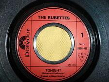 The Rubettes - Tonight  45 RPM 7'' Single (SANS POCHETTE)