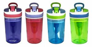 New Contigo Kid's 2-in-1 Snack Water Bottle BPA FREE Color/Pack may vary
