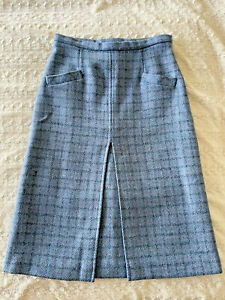 OTTERBURN TWEED Wool Skirt Made in England  Lined  Sz 27  Fit 8 - 10  EUC!