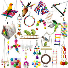 Pet Toy Swing Bird Toy Parrot Rope Harness Cage Hang Toys For Parakeet Cockatiel
