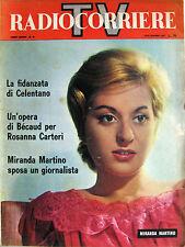 RADIOCORRIERE 25 1961 Miranda Martino Milena Cantù Gilbert Bécaud Tino Carraro