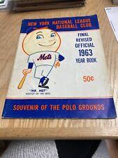 1963 New York Mets Official Yearbook Revised Edition Mr. Met