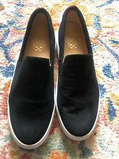 Women's Vince Camuto Black Leather Boat Shoes Slip On Size 9.5