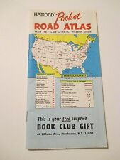 HAMOND POCKET ROAD ATLAS MAPS~Scale-O-Matic Mileage Chart~Book Club Gift