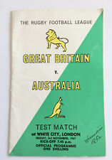 More details for rugby test match, 'great britain vs australia' 1967 programme