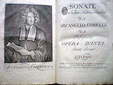 Corelli, Sonate, Opera quinta, parti I-II, London, c. 1754 MUSICA BAROCCA