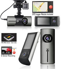 "Indigi Car DVR Dash CAM + 2.7"" LCD + Dual lens (Front & Back) + Motion Detection"