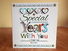 Anniversary card partner husband personalised special years anniversary card