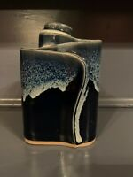 Bay Pottery Virginia Drip Glaze Ribbon 3 Chamber Vase/ pencil holder