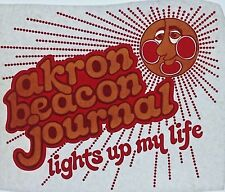 Original Vintage Akron Beacon Journal Iron On Transfer Lights Up My Life