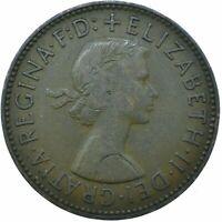 1957 HALF PENNY GB UK QUEEN ELIZABETH II. COLLECTIBLE COIN  #WT21714