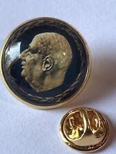 GROS PIN'S 2cm ASPECT Doré Président Charles DE GAULLE Profil