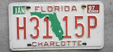 1997 FLORIDA LICENSE PLATE  # H31 15P