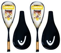 2 x Head Intelligence i.110 Squash Rackets + 3 Squash Balls RRP £335