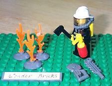 Lego Minifig Fireman w/ Breathing Hose Helmet 7208 Airtanks