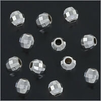 30 Sterling Silver Faceted Round Disco spacer Beads 3mm #51065