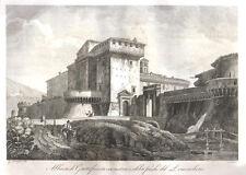 Abbazia di Grottaferrata 1850 acquaforte Cottafavi